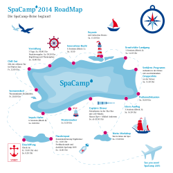 Die Roadmap des 5. SpaCamp von 7.-9.11.2014 © SpaCamp / Fotolia